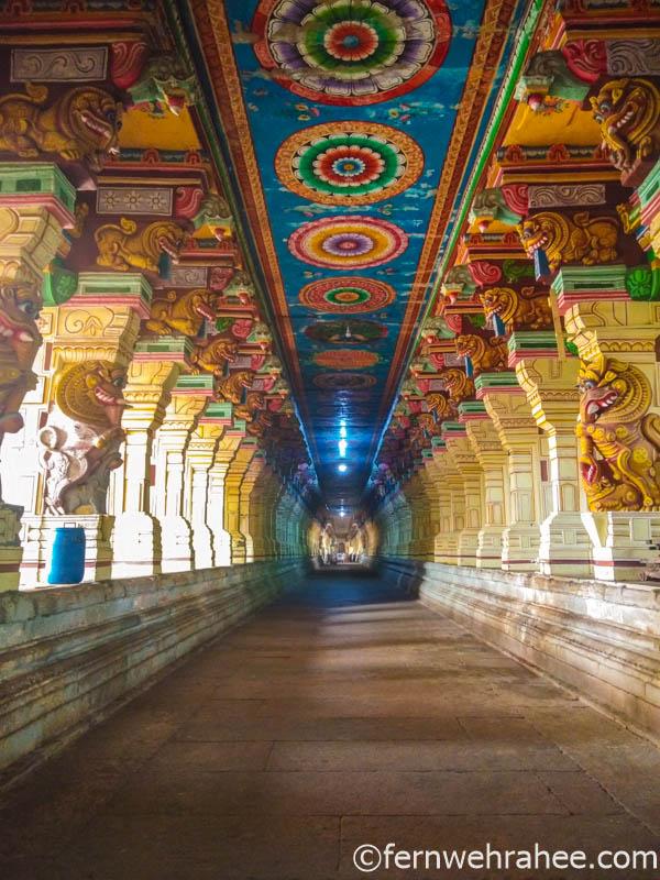 1000 Pillars Corridor at Rameswaram temple