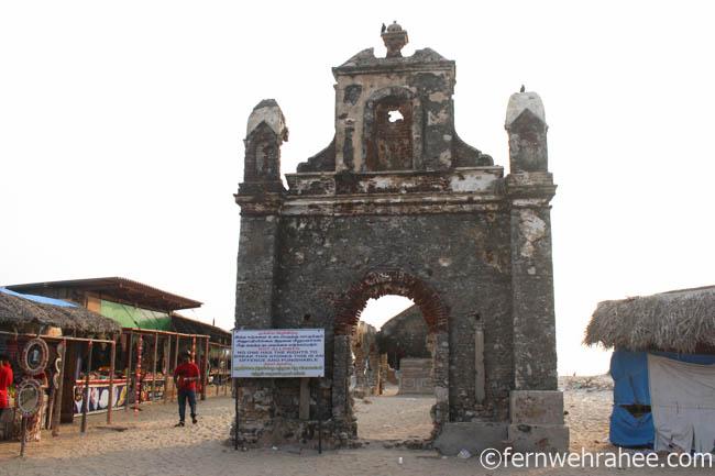 Ruins at Dhanushkodi Ghost town