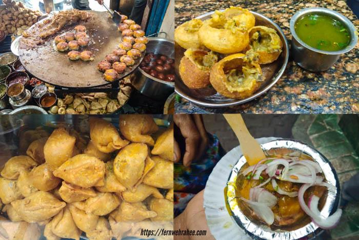 Chaat in Banaras Kashi chat Bhandar