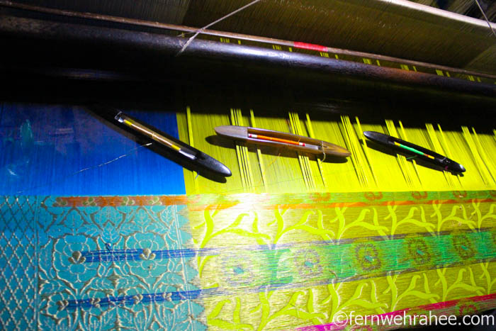 Banarasi silk saree weaving unit Varanasi