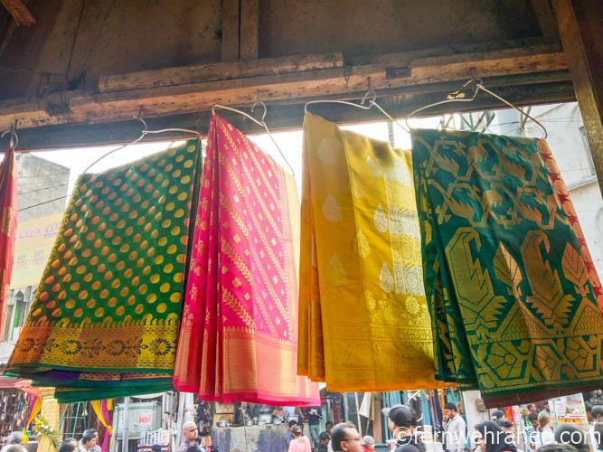 Banarasi silk saree shopping in Varanasi
