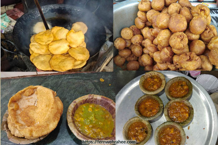 Varanasi famous breakfast kachori sabji
