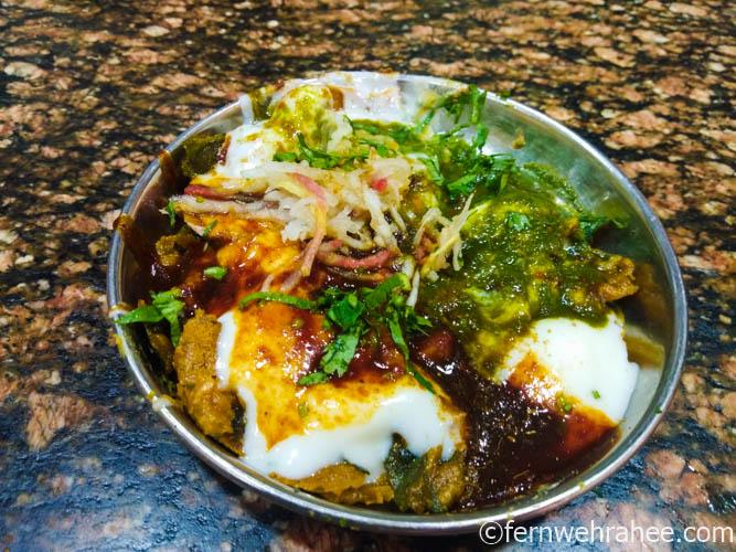 Varanasi street Food Palak chaat