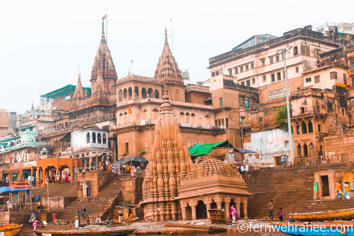 Temples near Burning ghat varanasi