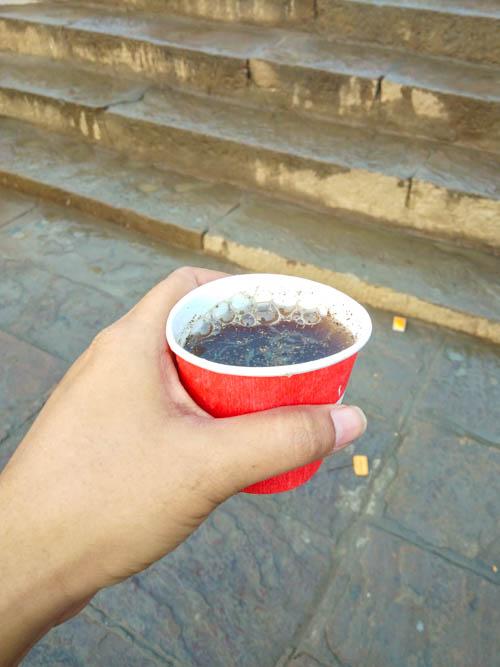 Lemon tea at Assi ghat